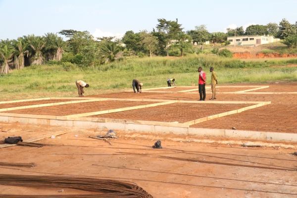construction of basketball court at TKSHS